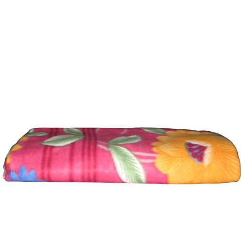 Spangle Fleece Blanket Floral Print in Multicolor Single Bed Blanket Set of 3