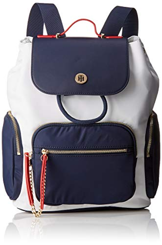Tommy Hilfiger Core Nylon Backpack, Borse Donna, Bianco (Corporate), 1x1x1 Centimeters (W x H x L)