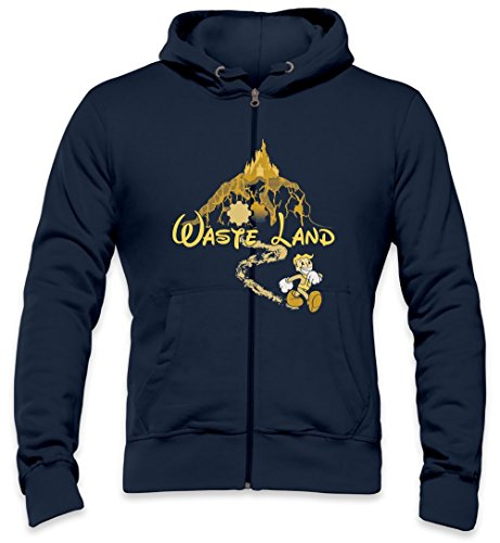 The Happiest Place Left On Earth Mens Zipper Hoodie Small -