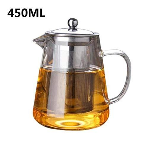 LALY A SHOP Service à thé en verre résistant à la chaleur de théière Avec le filtre d'acier inoxydable, 450ML