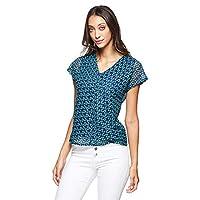 OVS Women's 191TSH164BIS-71 T-Shirt, Green (Emerald 1938), Medium