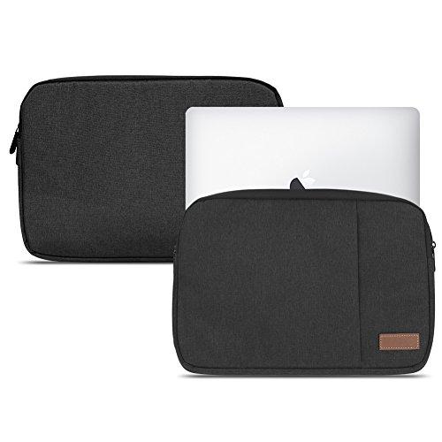 Notebook Sleeve Hülle Laptop Schutz Tasche Notebooktasche Ultrabook Macbook Grau Schwarz Tablet, Notebook:TrekStor SurfTab duo W3 W2 W1, Farbe:Schwarz