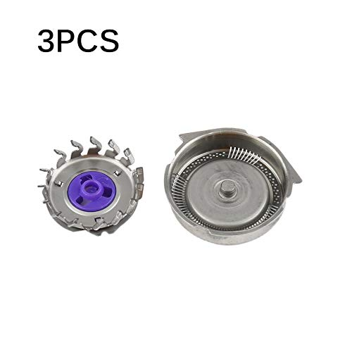 Mountxin lame per testine di ricambio 3pcs / set adatta per philips norelco razor - silver