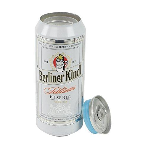 Dosentresor Dosensafe Geldversteck im Design einer Berliner Kindl Getränkedose, 16 x 6,5 cm