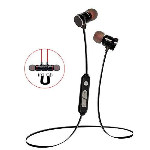 Earbuds Kopfhörer Magnet Art V4.1 Bluetooth Noise Reduction sweatproof Hörer mit Mikrofon In-Ohr-Kopfhörer, für Laufen & Sports Kopfhörer für iPhone Samsung Android Smart Phones [schwarz] (Drahtlose In Ear-monitor-pack)