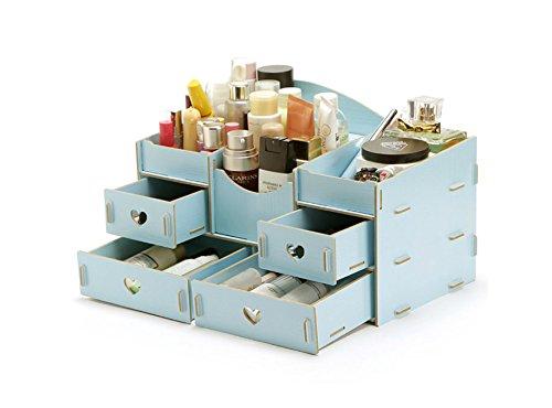 Preisvergleich Produktbild Unbekannt Aufbewahrungsbox,  kreative DIY-Holz-Desktop-Kosmetik-Box,  Multi-Schublade Lagerung Schmuck Finishing-Box (Farbe : Multi-colored)