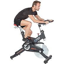 FYTTER RI-09R - Bicicletas estáticas y de spinning para fitness, color negro