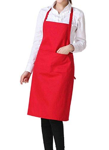 Fablcrew 1pcs Unisex Delantal Cocina café Chef Multiuso