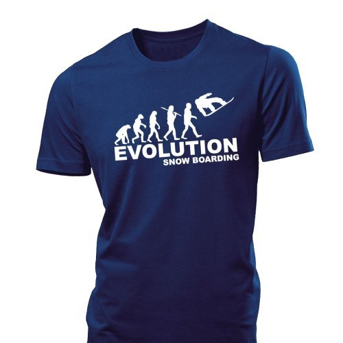41rEE4rnv1L BEST BUY UK #1iClobber Snow Boarding Evolution Mens T Shirt tshirt snowboard board ski   Large   Navy Blue price Reviews uk