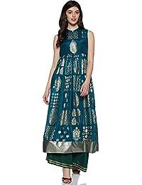 Aurelia Women's Silk A-Line Kurta