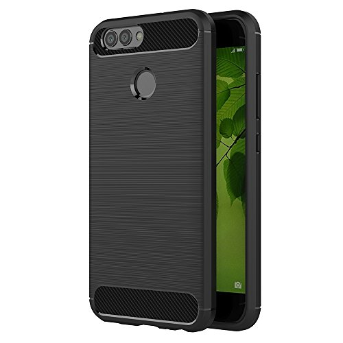 Huawei Nova 2 Hülle, AICEK Schwarz Silikon Handyhülle für Huawei Nova 2 Schutzhülle Karbon Optik Soft Case (5,0 Zoll)