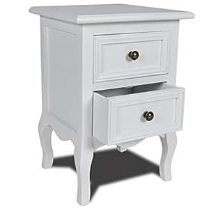 vidaxl table de chevet avec 2 tiroirs cuisine maison. Black Bedroom Furniture Sets. Home Design Ideas