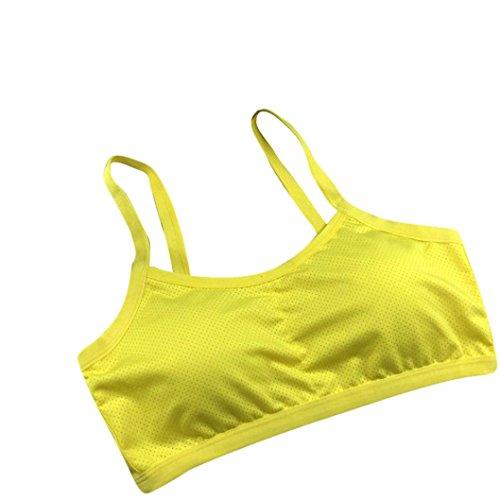 Soutien-gorge de sport,Tonwalk Yoga Fitness Entraînement Sans couture Veste Jaune