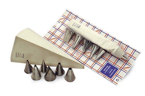 Gobel 889101 Trousse à Décorer : 6 douilles inox + 1 poche coutil