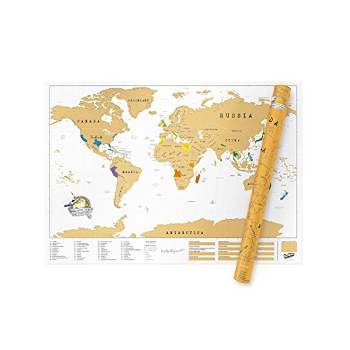 Luckies Mapa Mundo XXL, Multicolor, 84 x 119 cm