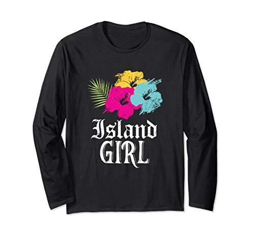 Insel Mädchen! Westindische Karibik Urlaub Langarmshirt