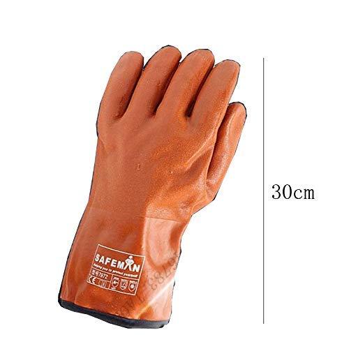 Preisvergleich Produktbild MDD Beständige kalte Handschuhe der niedrigen Temperatur gekühltes trockenes Gefrierschrank-Frostschutzmittel-wasserdichte Handschuhe Winter-langes Hülsen-Plus-Samt-warme rutschfeste haltbare Schutzh