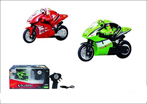 Smart-Planet® hochwertiges ferngesteuertes RC Bike 2.4 GHz Funk Fernbedienung Gyro RC Motorrad mit Funk Fernbedienung - startet liegend