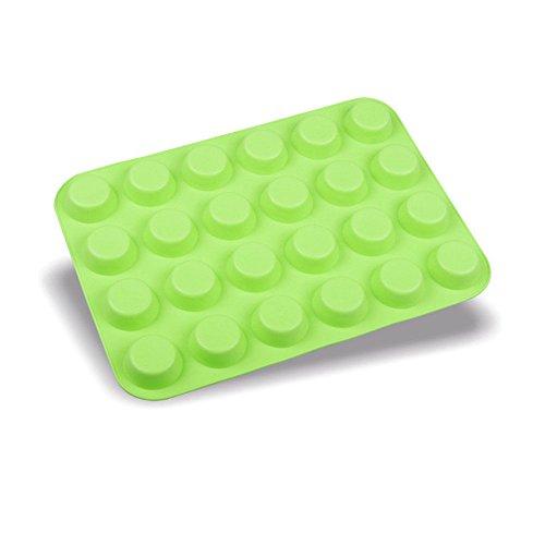 kformen Set Silikon Backform, Küche Backen Back Tortenbodenformen, 24 Cavity Mini Muffin Silikon Seife Kekse Cupcake Backformen Pfanne Tablett Schimmel ()