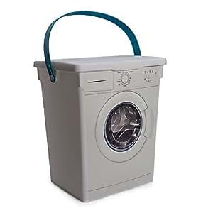 waschmittelbeh lter waschpulverbox beh lter vorratsdose f r waschmittel mit motiv waschmaschine. Black Bedroom Furniture Sets. Home Design Ideas