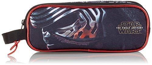 Star Wars Estuche portatodo Doble Lleno 23 Piezas (SAFTA 811601707), Color Negro y Rojo, 21 cm