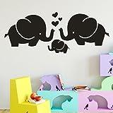 TWBB Elefant Muster tapete Esszimmer Schlafzimmer Dekorationen einfarbig Entfernbare Wandaufkleber (Schwarz)