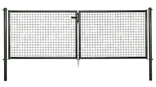 GAH.ALBERTS Gartentor 2-Flügel 300 x 100 cm Wellengitter, 60290 1