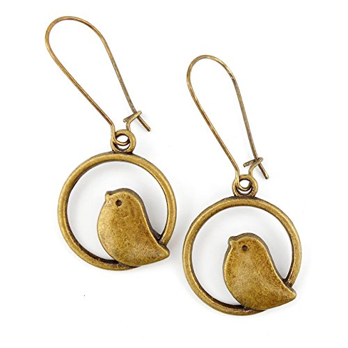 mid-length-antiqued-bronze-bird-earrings-with-24mm-kidney-wires