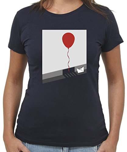 T-Shirt IT PALLONCINO PENNYWISE CLOWN HORROR - by New Indastria Blu notte