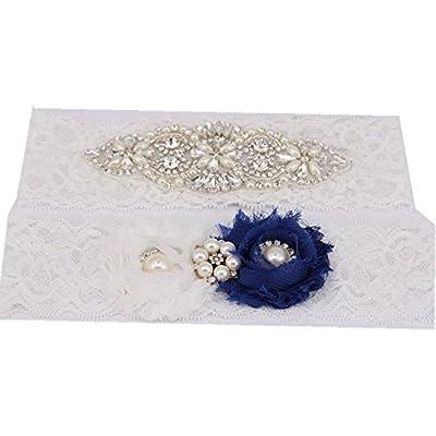 "TRLYC 2"" Wide*18"" Length G11 Bridal Garter Set Wedding Garter Set"