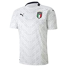 Puma FIGC Away Shirt Replica Calzettoni Calcio, Uomo, Puma White-Peacoat, S