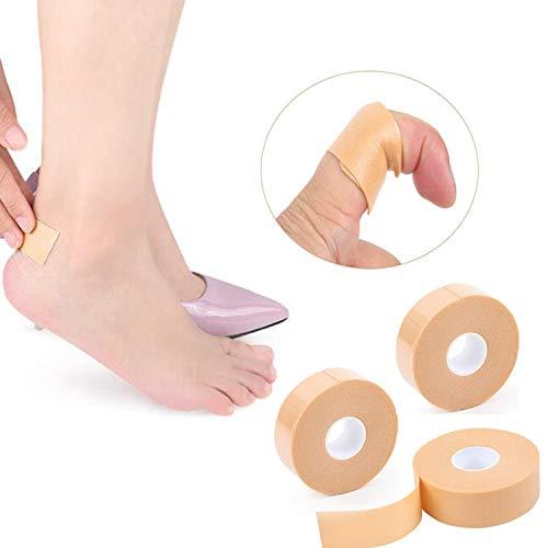 Fersen-Griffband Fußpflege-Sticker 5,5 m x 2 Rolle Klebepads für Mann Frauen zur Vorbeugung von Blasen und Scheuern von Kissen