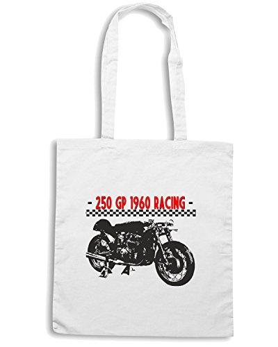 T-Shirtshock - Borsa Shopping TB0289 ITALIAN MOTORCYCLE GP RACING Bianco