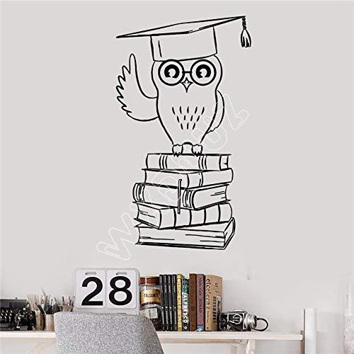 hllhpc limited wxduuz vinyl wall decal gufo studente istruzione college libri adesivi soggiorno cucina camera sticker home decor 58 * 33 cm