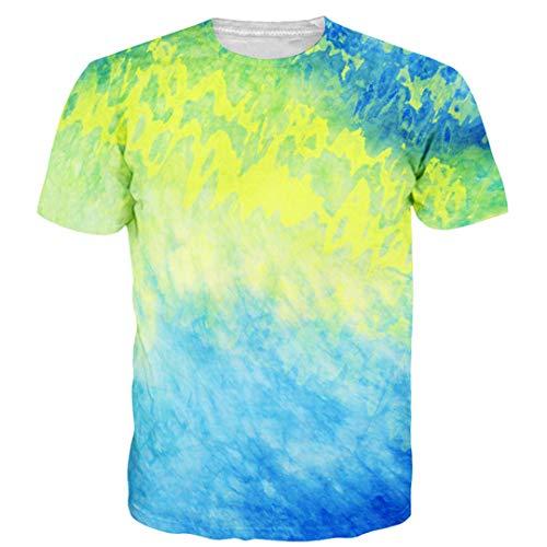 Herrenbekleidung Buntes Tie Dye T-Shirt t Shirt (Männliche Pop Art Kostüm)