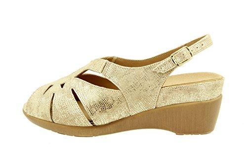 Scarpe donna comfort pelle Piesanto 8152 sandali soletta estraibile comfort larghezza speciale Duna