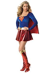 Sexy Superhero Supergirl Karneval Kostüm Super Girl (Women: 12)
