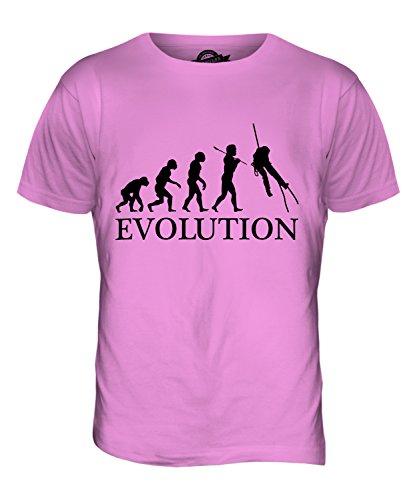 CandyMix Canyoning Evolution Des Menschen Herren T Shirt Rosa