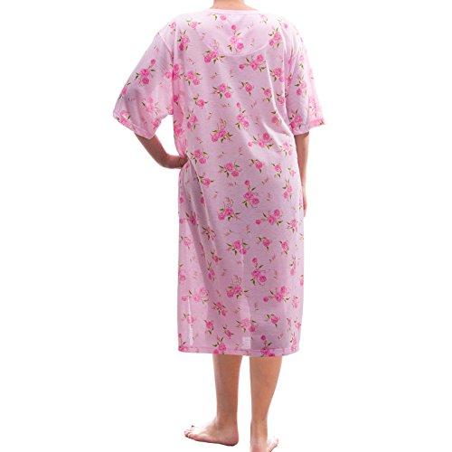 Romesa chemise de nuit-mini imprimé avec broderie-oversize Rose - Rose
