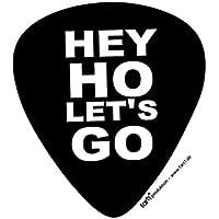 1art1® Ramones - Hey Ho Let's Go, Plectrum Shape Vinilo Decorativo Pegatina Autoadhesivo (9 x 9cm)