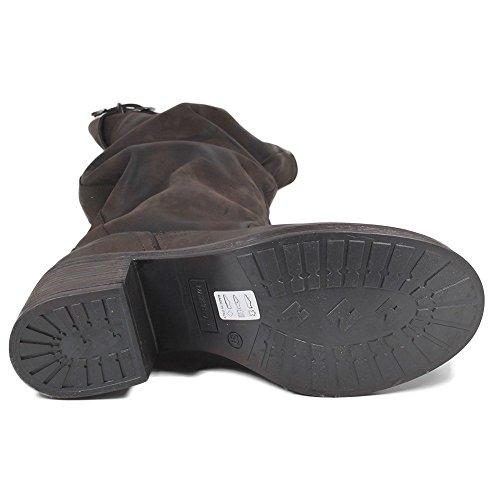 À 0297 Marron Boots Talons Cuir Time In Véritable Hauts Bottes Femme tpH6WqRw