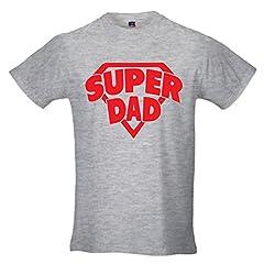 Idea Regalo - T-Shirt Maglia Uomo Maglietta Idea Regalo Per il Papa' Super Dad S GRIGIA