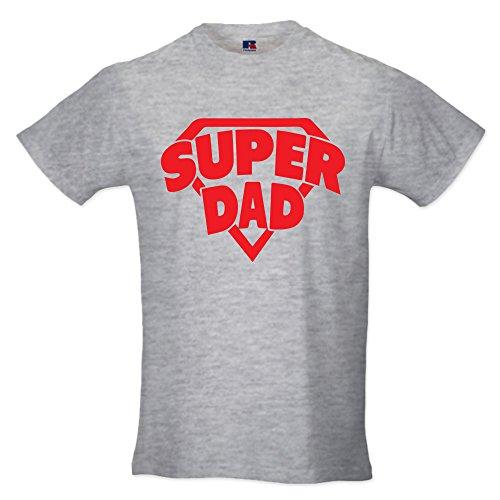 T-shirt maglia uomo maglietta idea regalo per il papa' super dad xl grigia