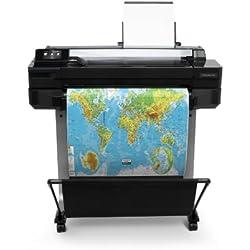"HP Designjet T120ePrinter Imprimante Grand Format Series (61cm (24""), 1200X 1200dpi, Wi-FI, USB 2.0) Noir Designjet T520 (61 cm)"