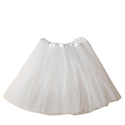 SaiDeng Damen Tütü Minirock Petticoat Tanzkleid Ballettrock Pettiskirt Unterrock In Verschiedenen Farben (Kostüme Tanzkleider Details)