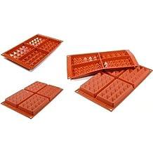Silikomart 26.155.00.0065SF 155–Molde de silicona para gofres 30,1x 17,5x 2,29cm arcilla roja