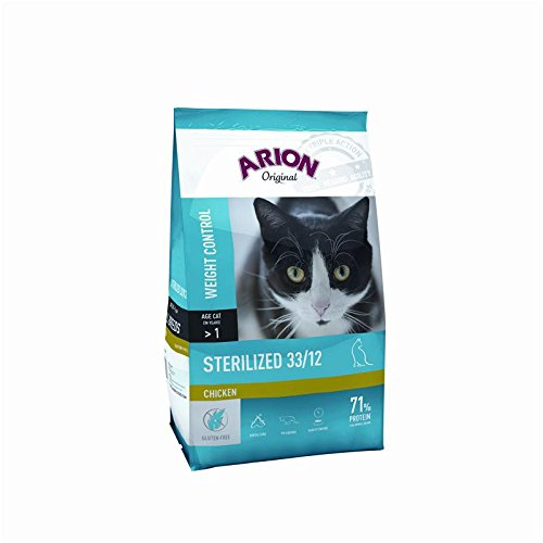Arion Cat Original Sterilized 33/12 Chicken | 7,5 kg - Natürliche Psyllium Faser