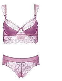 Varsbaby Soutien-gorge et culottes de lingerie en dentelle soutiens-gorge à broder à pousser vers le haut pour les femmes