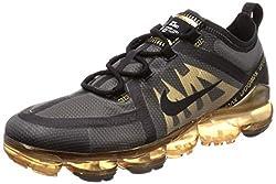 Nike Herren Air Vapormax 2019 Leichtathletikschuhe, Mehrfarbig (Black/Black/Metallic Gold 002), 44.5 EU