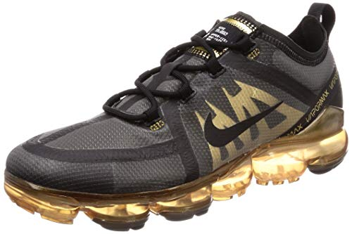 detailed look 02ff2 1bab0 Nike Air Vapormax 2019, Chaussures d'Athlétisme Homme, Multicolore  Black/Metallic Gold